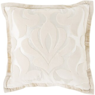 Decorative Goldie Damask Feather Down or Polyester Filled Pillow 20-inch