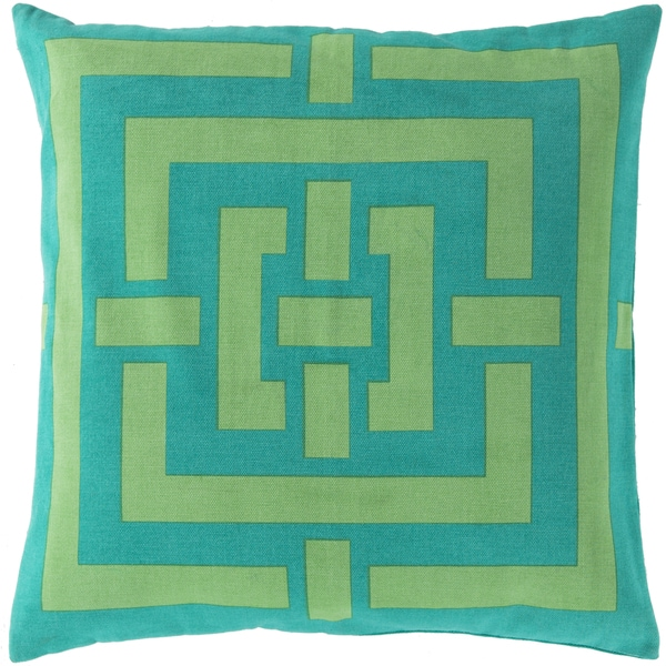 Decorative Candice Geometric Feather Down or Polyester Filled 20-inch Throw Pil