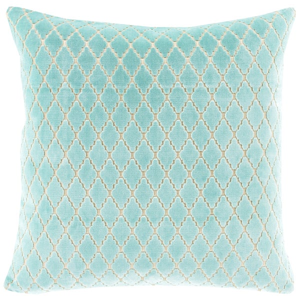 Decorative Cecilia Lattice Feather Down or Polyester Filled 20-inch Throw Pillo