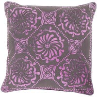 Decorative Sheryl Floral Feather/ Down or Polyester Filled PIllow 18-inch