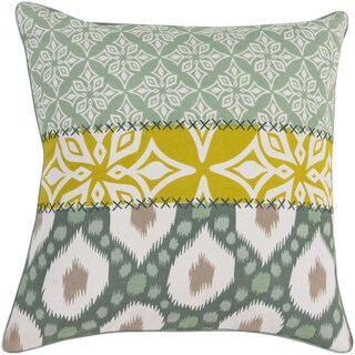 Decorative Elaine Floral Feather/ Down or Polyester Filled 20-inch Pillow