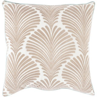 Decorative Darren Floral Feather/ Down or Polyester Filled 18-inch Pillow
