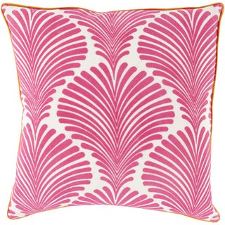 Decorative Debbie Floral Feather/ Down or Polyester Filled 18-inch Pillow