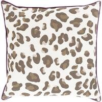 Decorative Delilah Down or Polyester Filled Animal Pillow (22 x 22)