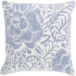 Decorative 18-inch Poly or Down Filled Daniel Floral 18-inch Pillow