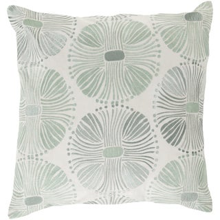 18-inch Poly or Feather Down Filled Decorative Damien Allium Throw Pillow