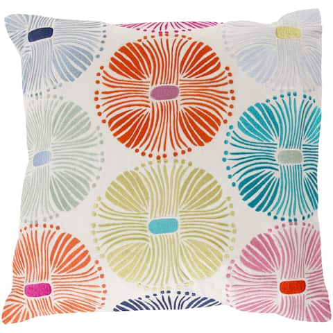 18-inch Poly or Feather Down Filled Decorative Damien Allium Pillow
