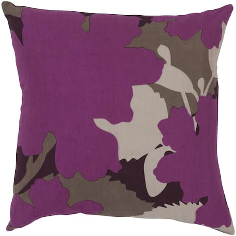 Decorative Tanner Tapestry Feather/Feather Down or Polyester Filled Throw PIllow 22-inch