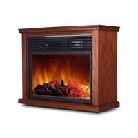 Global Air GDTFP-1500R  Large Room Infrared Frestanding Fireplace with Remote