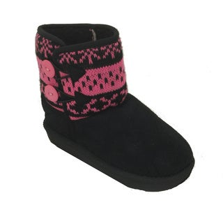 Toddler & Girl's Fair Isle Suede Boots