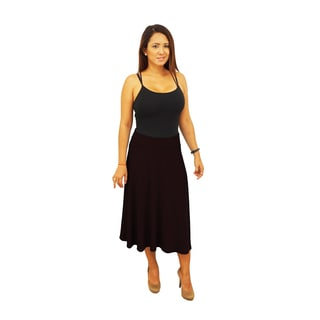 Fold over Waist Short Midi Below Knee Skirt