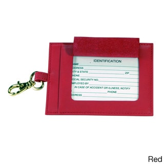 Royce Leather Large Luggage Tag in Genuine Leather