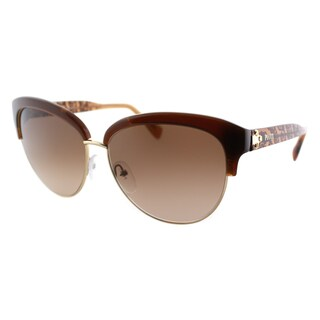 Emilio Pucci Women's EP 724S 210 Brown And Gold Plastic Cat Eye Sunglasses