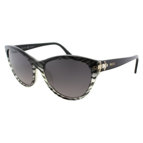 Emilio Pucci Women's EP 715S 006 Baby Zebra Plastic Cat Eye Sunglasses