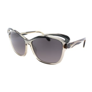 Emilio Pucci Women's EP 712S 029 Graphite Square Plastic Cat Eye Sunglasses