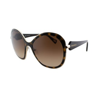Emilio Pucci Women's EP 138S 215 Tortoise And Gold Oversized Plastic Sunglasses