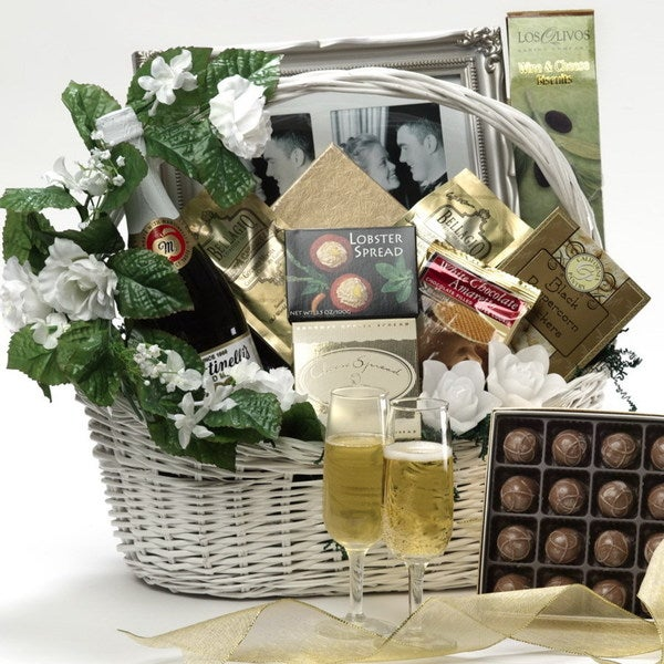 Discontinued~Best Wishes to You Wedding Gourmet Food Gift Basket