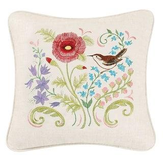 Red Poppy Linen Pillow