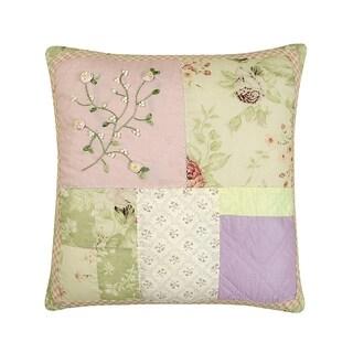 Rose Garden Quilted Pillow