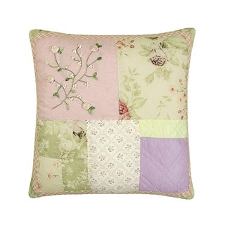 Beaded Quilted 16 Inch Throw Pillow