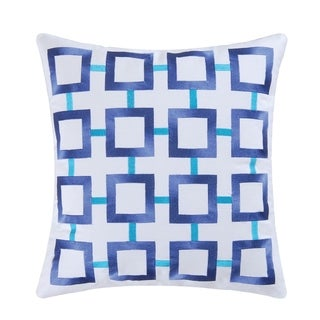 Link to Blue Square Embroidered 18 Inch Throw Decorative Accent Throw Pillow Similar Items in Decorative Accessories