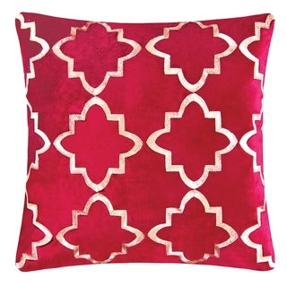 Veda Embroidered 18 Inch Throw Pillow