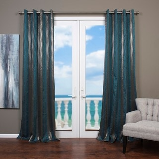 Link to Lambrequin Cosmopolitan Jacquard Curtain Panel - 54 x 96 Similar Items in Window Treatments