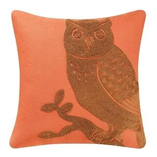 Rustica Owl Rice Stitch 18 Inch Throw Pillow
