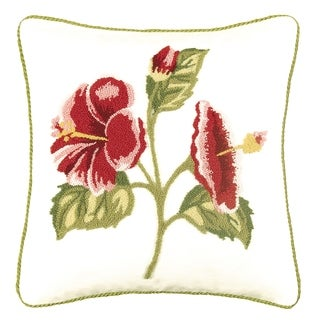 Hibiscus Tufted Pillow