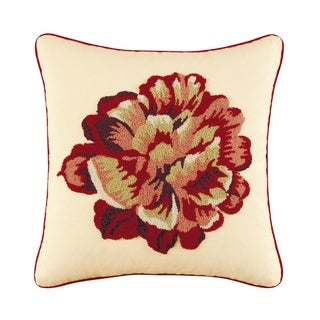 Flower Tufted 18 Inch Throw Pillow