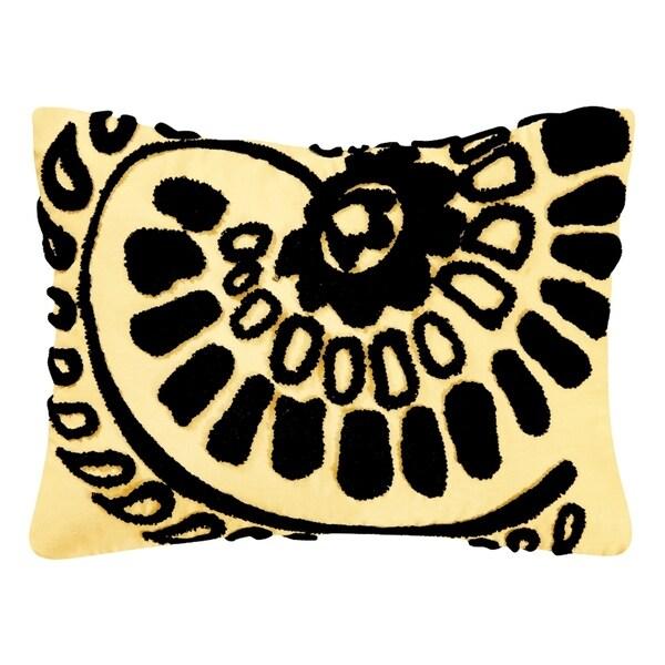 Borrego Black Tufted 12x16 Throw Pillow