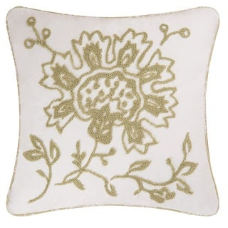 Shelby Green Tufted 18 Inch Throw Pillow