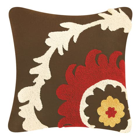 Ikat Tufted 18 Inch Throw Decorative Accent Throw Pillow