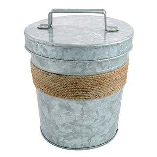 Cambridge Silversmiths Shiloh Galvenized and Rope 3-Quart Ice Bucket
