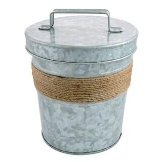 Cambridge Silversmiths Shiloh Galvenized and Rope 3-Quart Ice Bucket