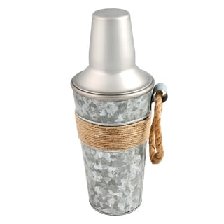 Cambridge Silversmiths Shiloh Galvenized and Rope 24-ounce Shaker