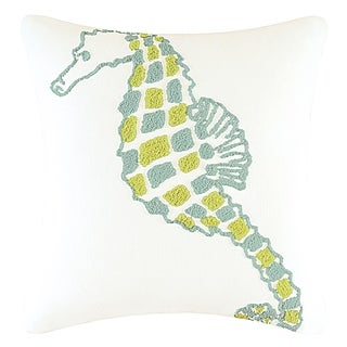 Seahorse Tufted 18 Inch Throw Pillow