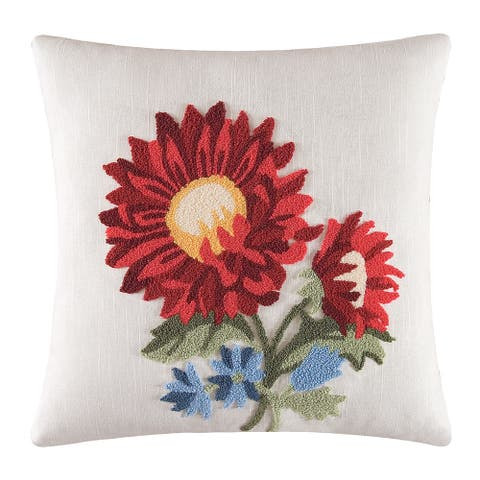 Aster Tufted 18 Inch Throw Decorative Accent Throw Pillow