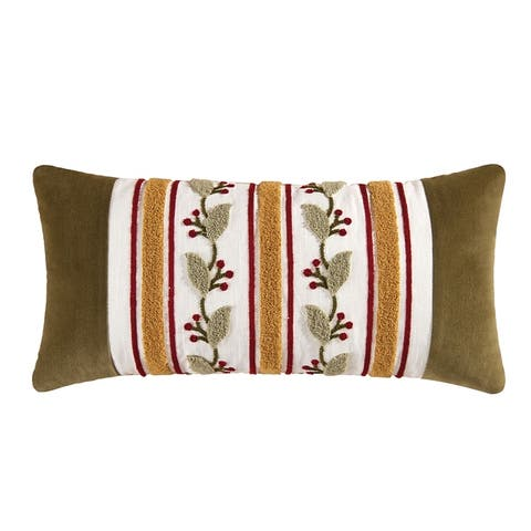 Florentine Tufted 12x24 Throw Decorative Accent Throw Pillow