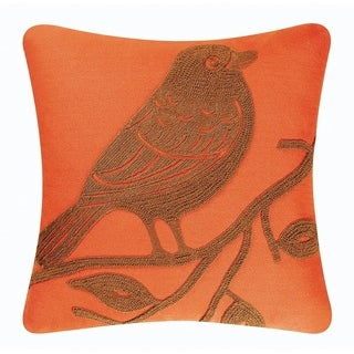 Bird Rice Stitch 18 Inch Throw Pillow