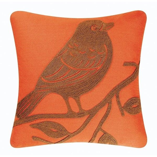Bird Rice Stitch 18 Inch Throw Pillow
