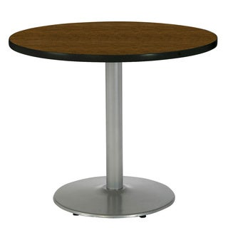 30-inch Round Pedestal Table with Round Silver Base