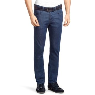Hugo Boss Green Drake Medium Blue Cotton Classic Skinny Denim Jeans