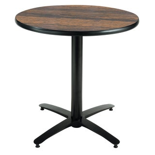 36-inch Round Pedestal Table with Arched X-Base