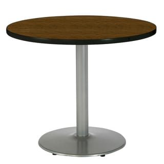 KFI 36in Round Pedestal Table with Round Silver Base