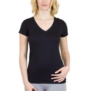 Steven Craig Apparel Women's Short Sleeve V-Neck T-shirt with Contrasting Trim
