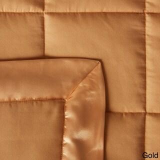 Down Alternative Blanket with Satin Trim (Option: Twin Gold)