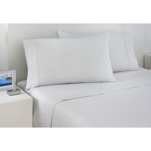Shop Izod Ticking Stripe Sheet Set Free Shipping On Orders Over