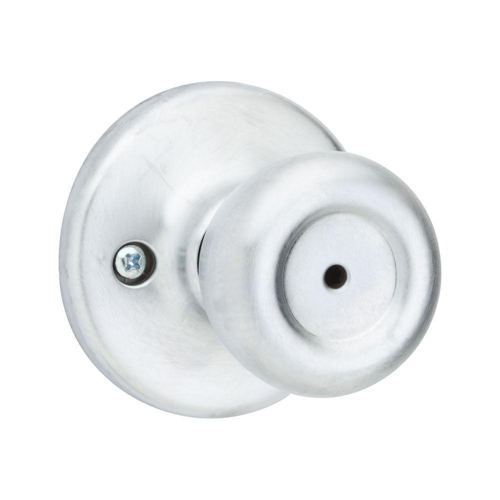 Kwikset Mobile Home Satin Chrome (Grey) Bed/Bath Knob