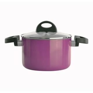 Eclipse 6.25-inch Purple Covered Casserole Dish